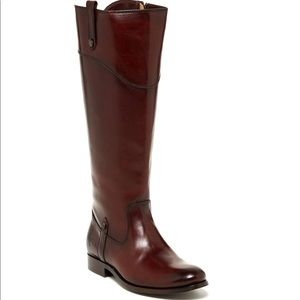 Frye Melissa Tab Tall Leather Boot Size 7.5